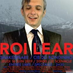 Maquette de l'affiche Lear