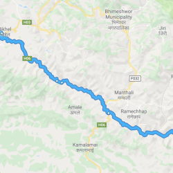 Notre itinéraire de Jeep