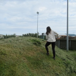 Ninon lors de sa dernière mission en Islande